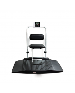 Dual Ramp Wheelchair Platform Scale with Seat