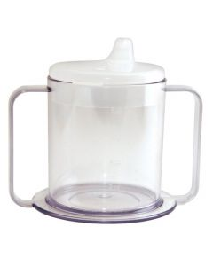 Transparent Mug with Two Handles and Lid